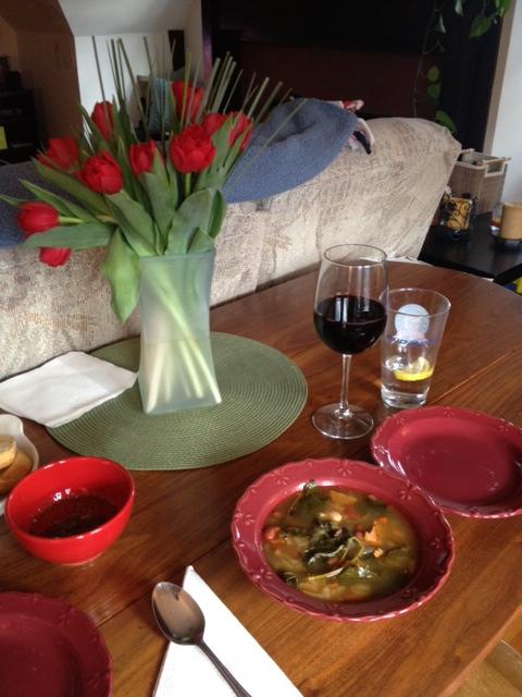 Portuguese Kale Soup - Table